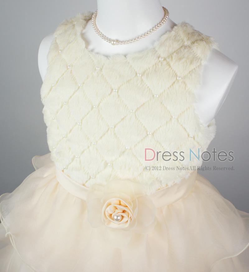 子供ドレス「アルパカドリーム」アイボリー G8010-1