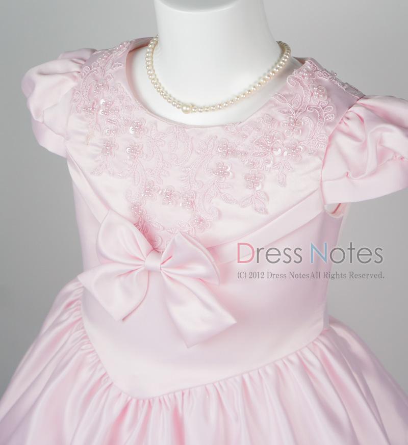 子供ドレス「ウノ」ピンク G8002-2