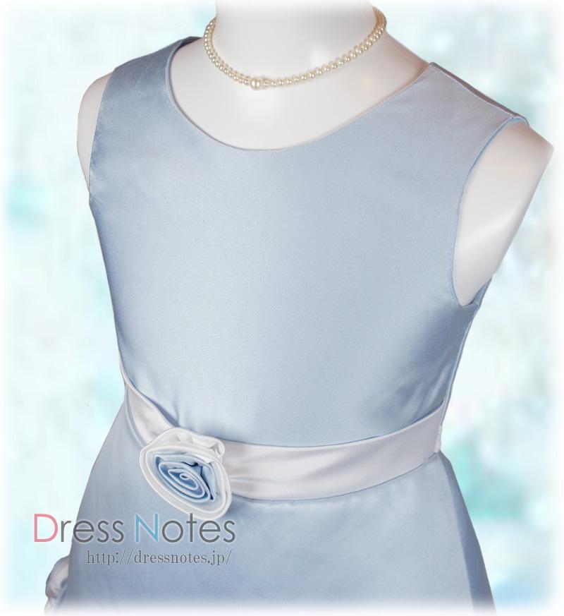 子供ドレス「シャンデリア」ブルー H8013-1