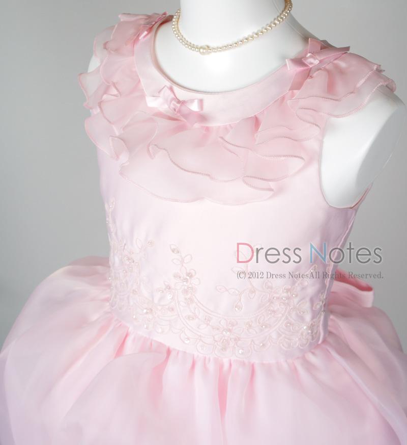 子供ドレス「アルコ・ミディアム」ピンク G8005-1