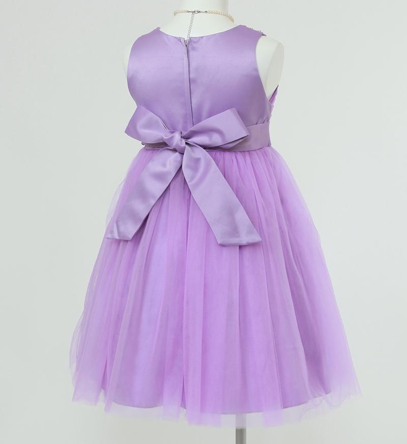 子供ドレス「エチュード」パープル P2003-3