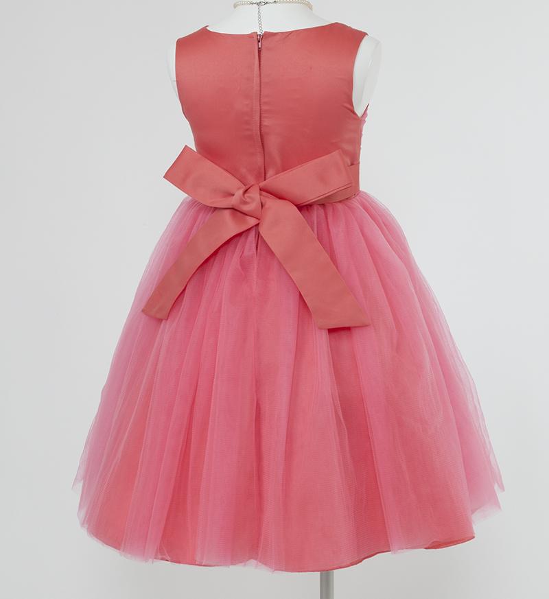子供ドレス「エチュード」オレンジレッド P2002-3