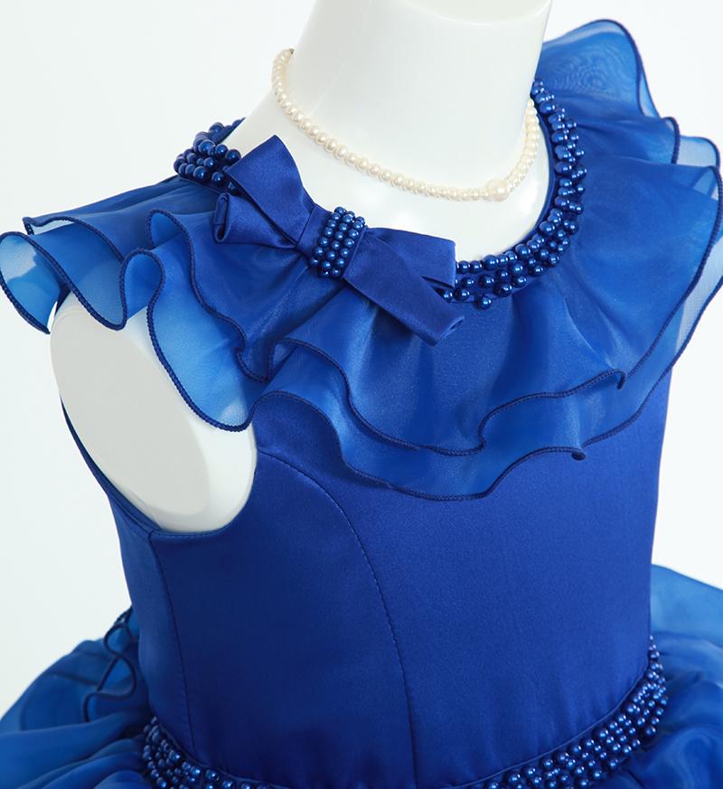 DressNotesのピアノ演奏用ドレス「アルドーレ2」スピリチュアルブルー-3