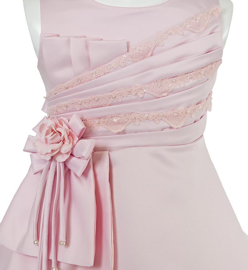 子供ドレス「ノクターン」ピンク-3