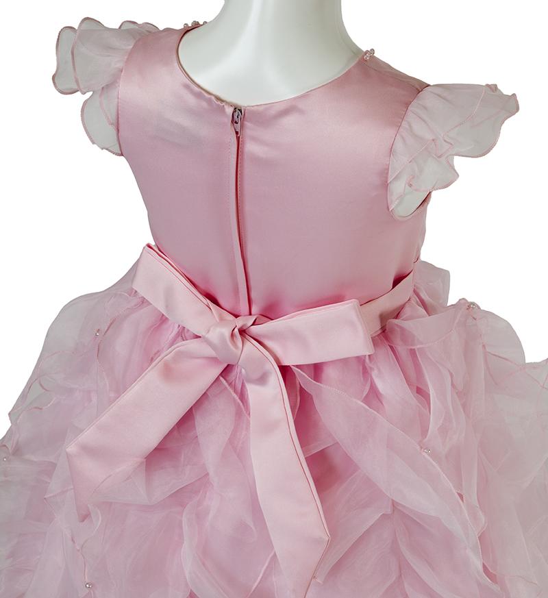 子供ドレス「サイア」ピンク-4