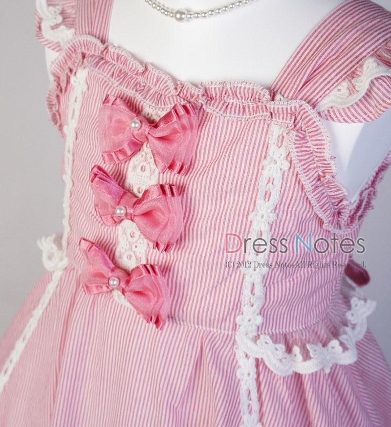 コットンドレス「トリオ」ピンク B1015-1