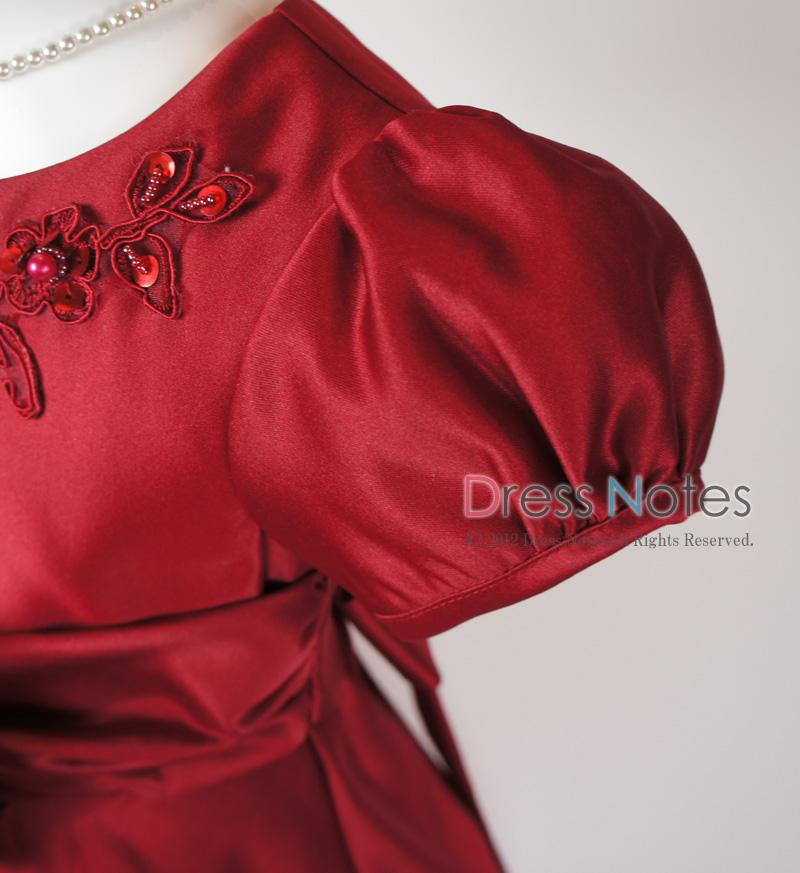子供ドレス「マーズローズ」ワイン H8003-2