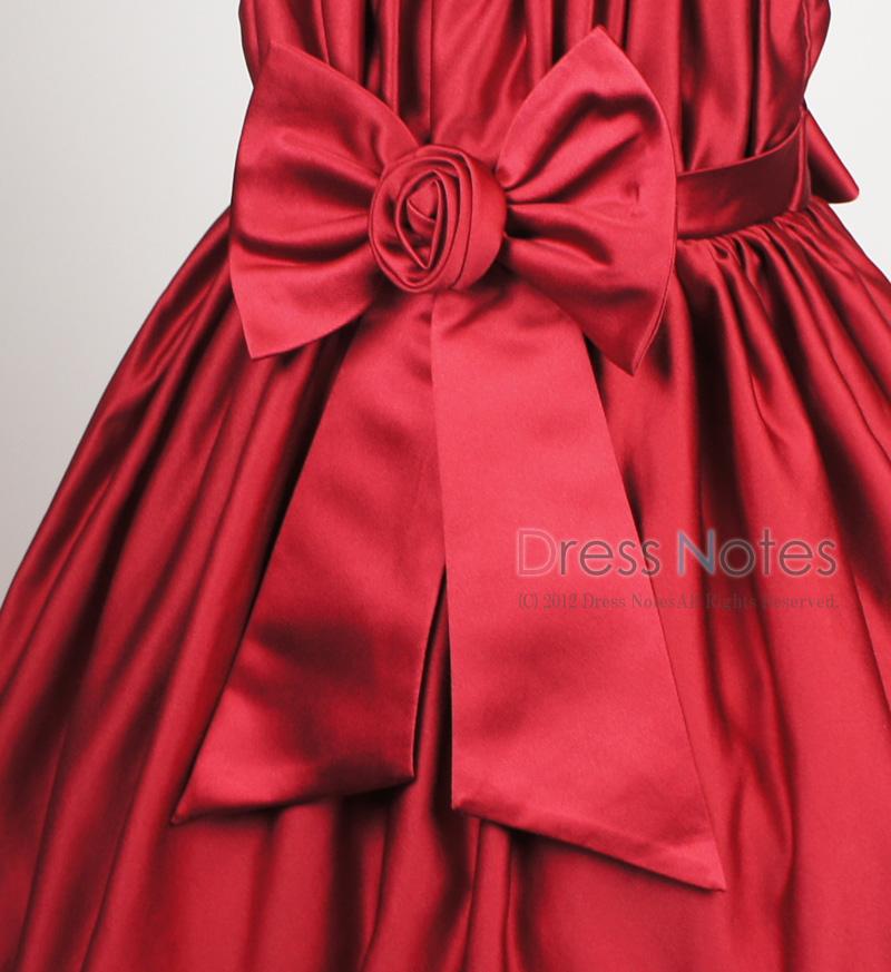 子供ドレス「コーラス」ワインレッド H8011-3