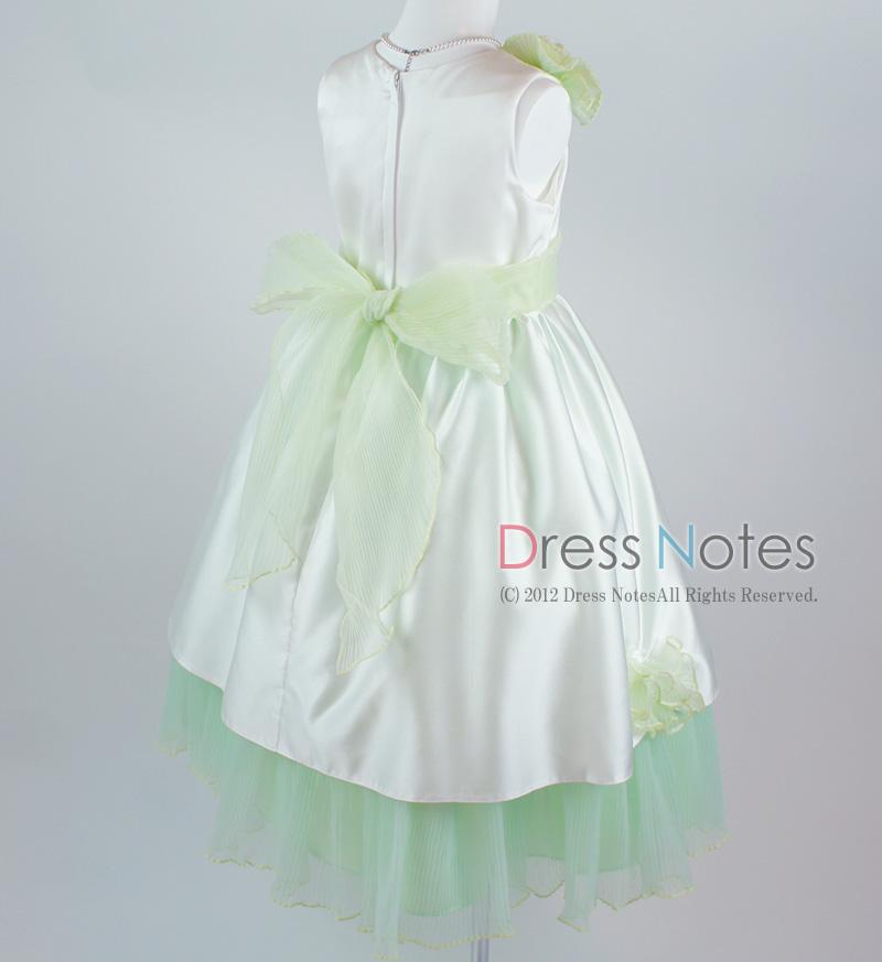 子供ドレス「ロンド」グリーン D8002-5