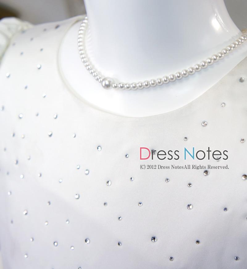 子供ドレス「メレンゲ」ホワイト A8003-1