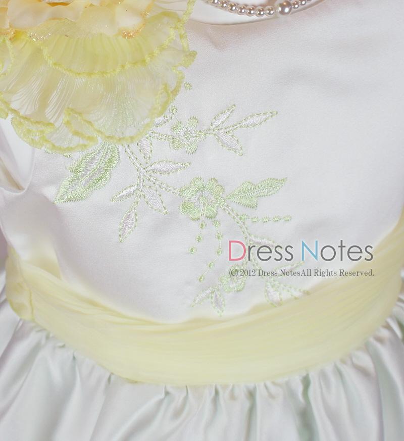 子供ドレス「ロンド」イエロー D8003-3