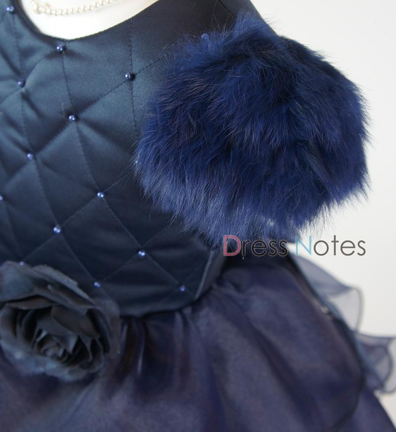 子供ドレス「カンタータ」 ネイビー D8005-2