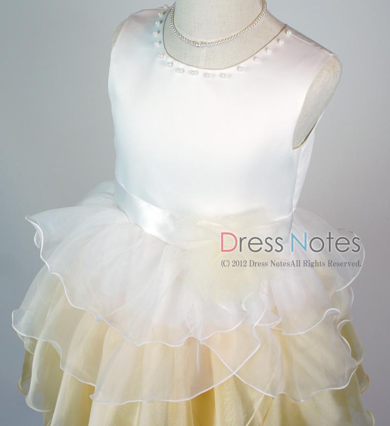 子供ドレス「アリア」シャンパンゴールド D8008-2