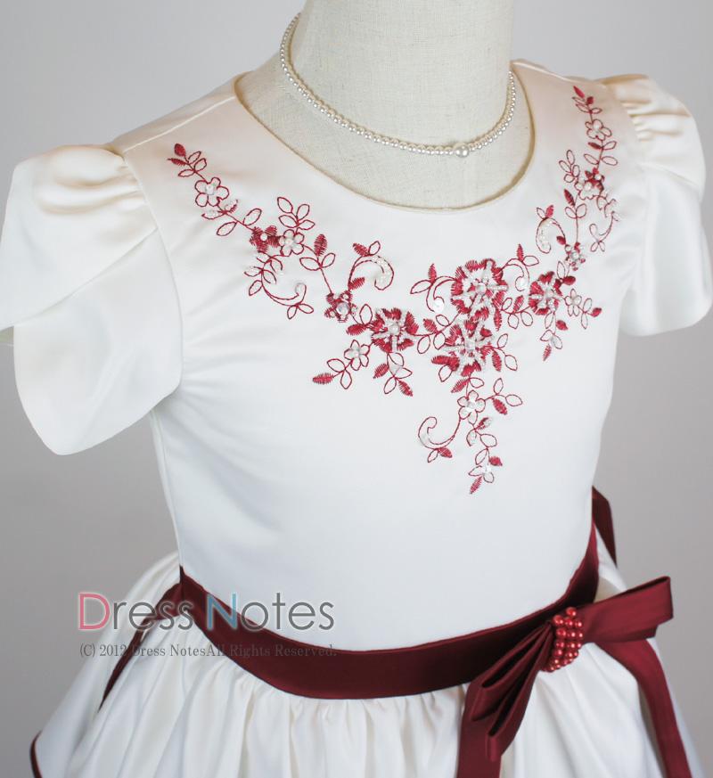 子供ドレス「ソナタ」ワイン D8024-1