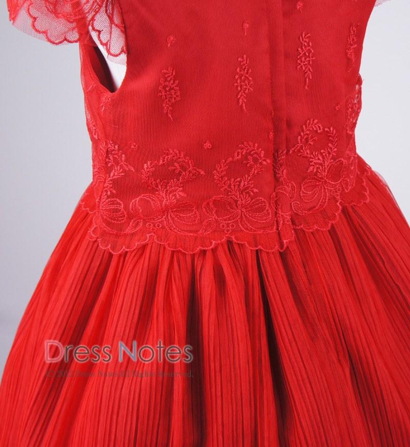 子供ドレス「パガテル」レッド D8022-5
