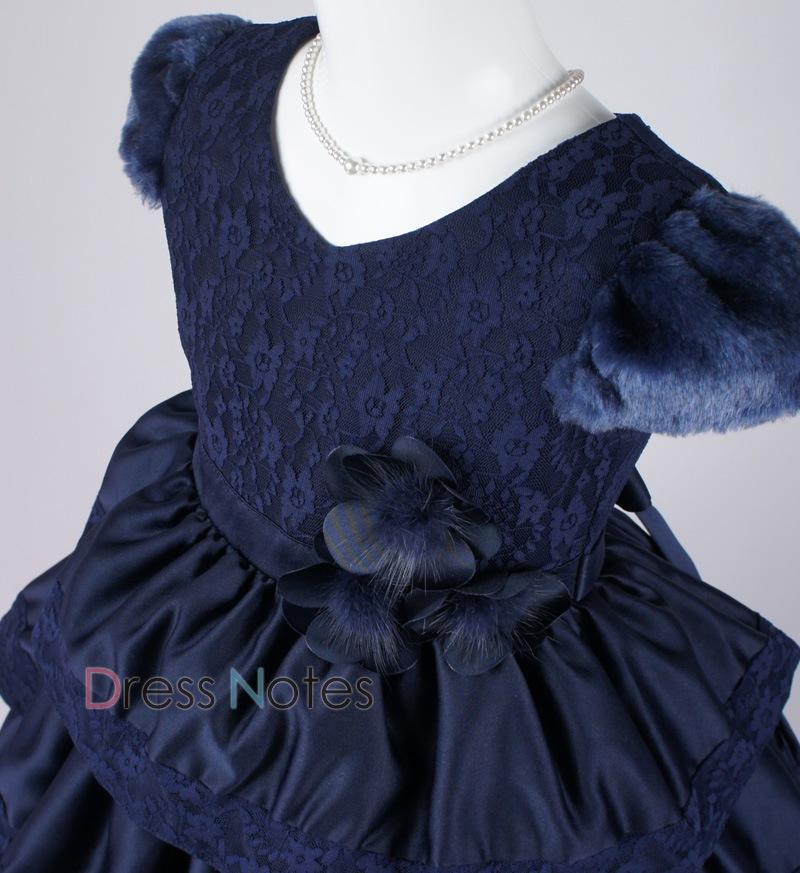 子供ドレス「バラード」ネイビー D8018-1