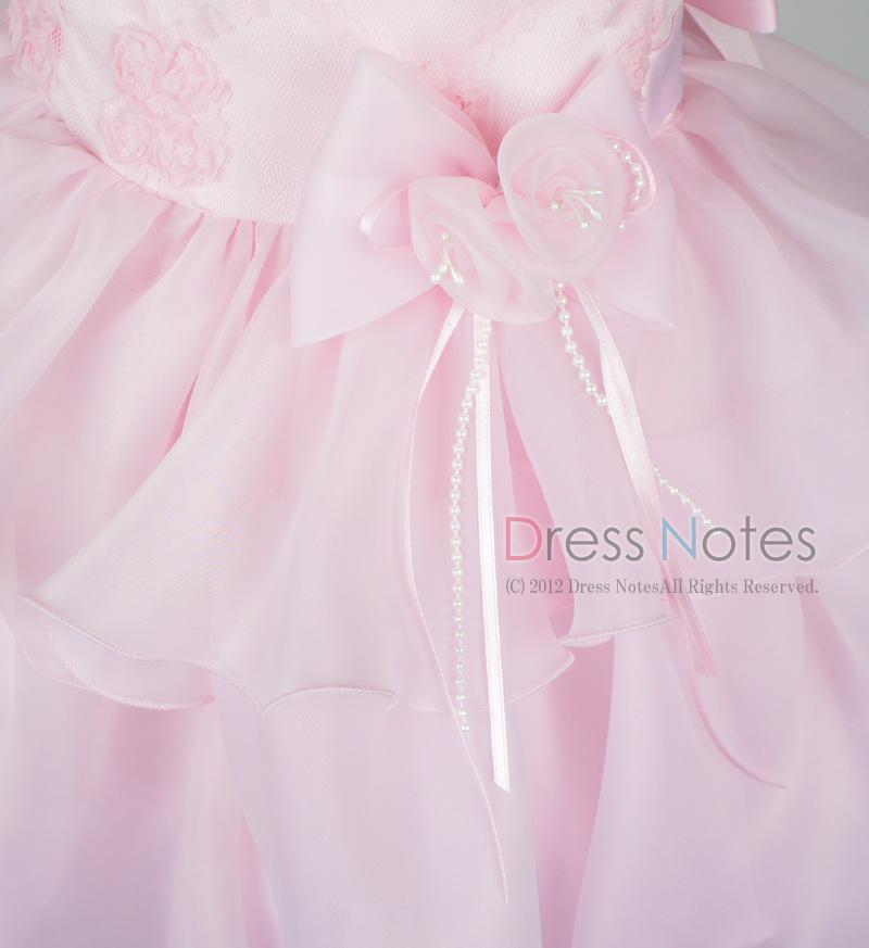 子供ドレス「フォーレ」ピンク H8004-3