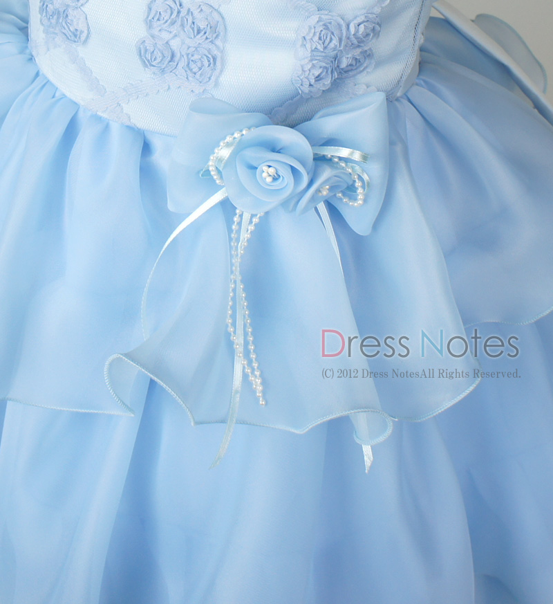 子供ドレス「フォーレ」ブルー H8005-2