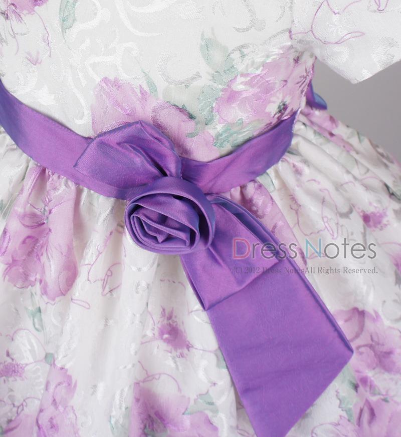 子供ドレス「ヘミング」パープル H8006-2