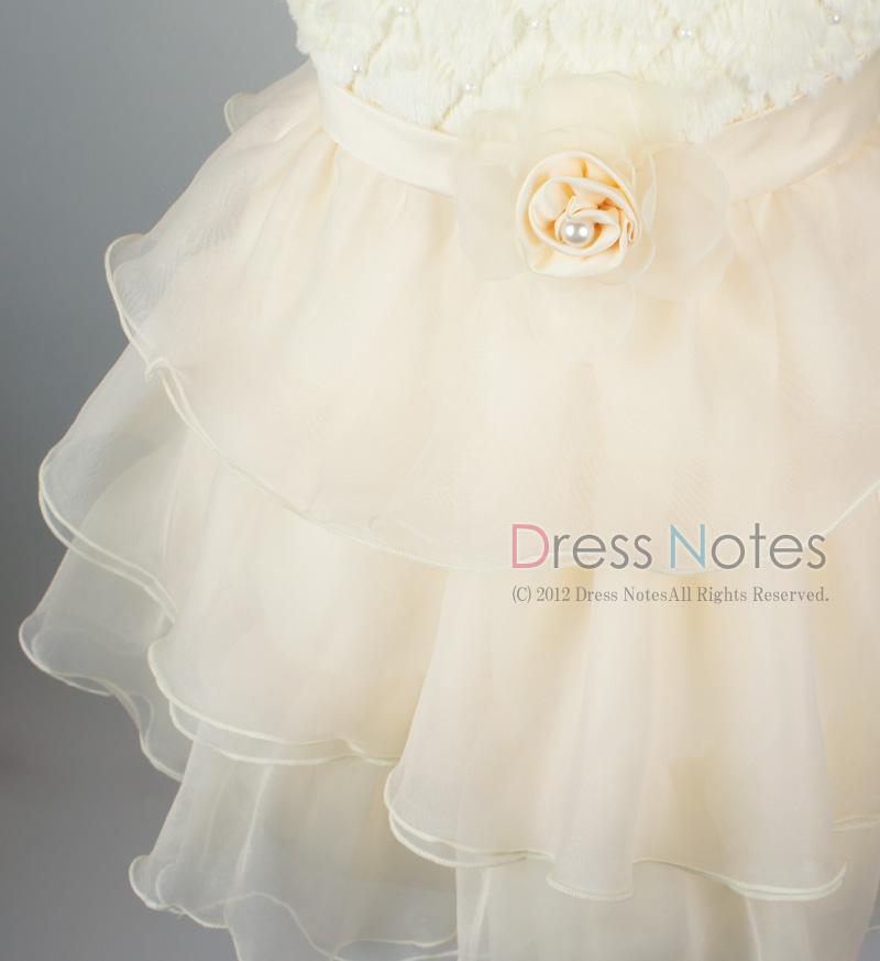 子供ドレス「アルパカドリーム」アイボリー G8010-3