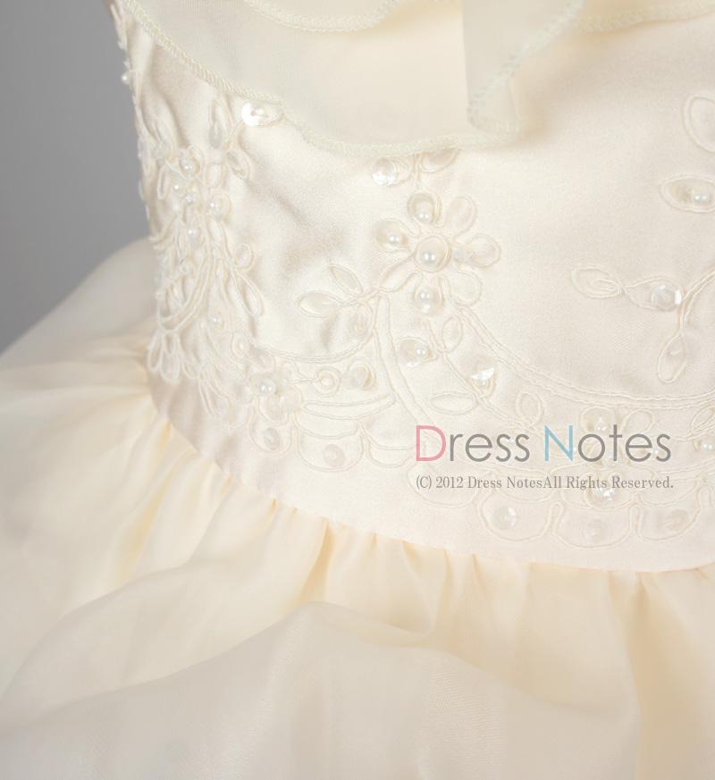 子供ドレス「アルコ・ロング」アイボリー G8013-2