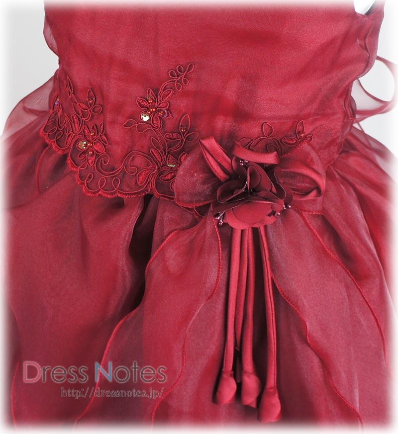 子供ドレス「スカルラッティ」ワインレッド G8014-2
