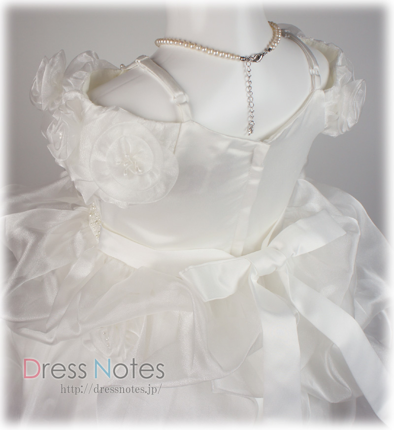子供ドレス「ヴァニラパール」パールホワイト G8016-2