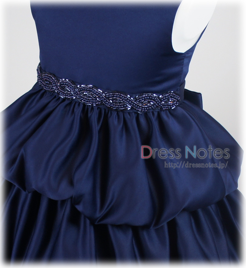 子供ドレス「クレッシェンド」ネイビー F8008-3