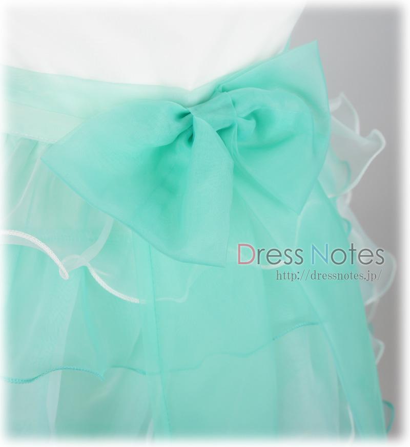 子供ドレス「スラー」ミントグリーン F8010-2