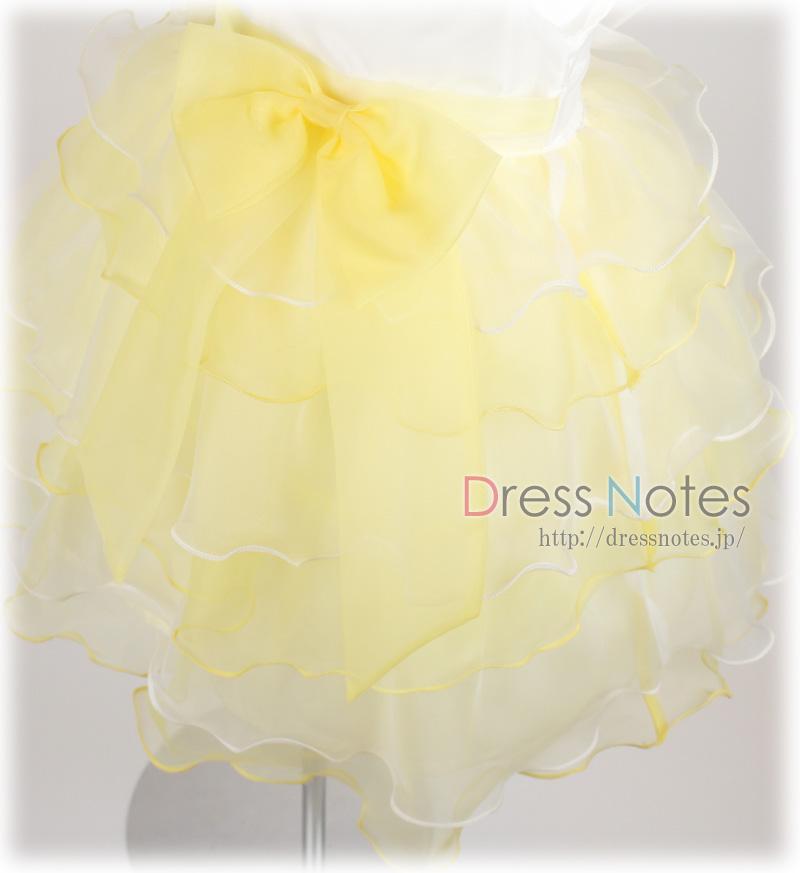 子供ドレス「スラー」レモンイエロー F8011-3