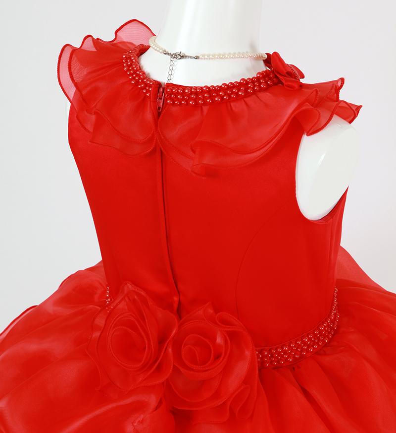 DressNotesのピアノ演奏用ドレス「アルドーレ2」プロミネンスレッド-7