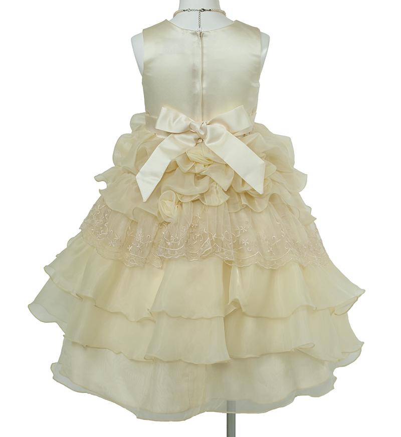 子供ドレス「ヴィエリア」ライトイエロー-4