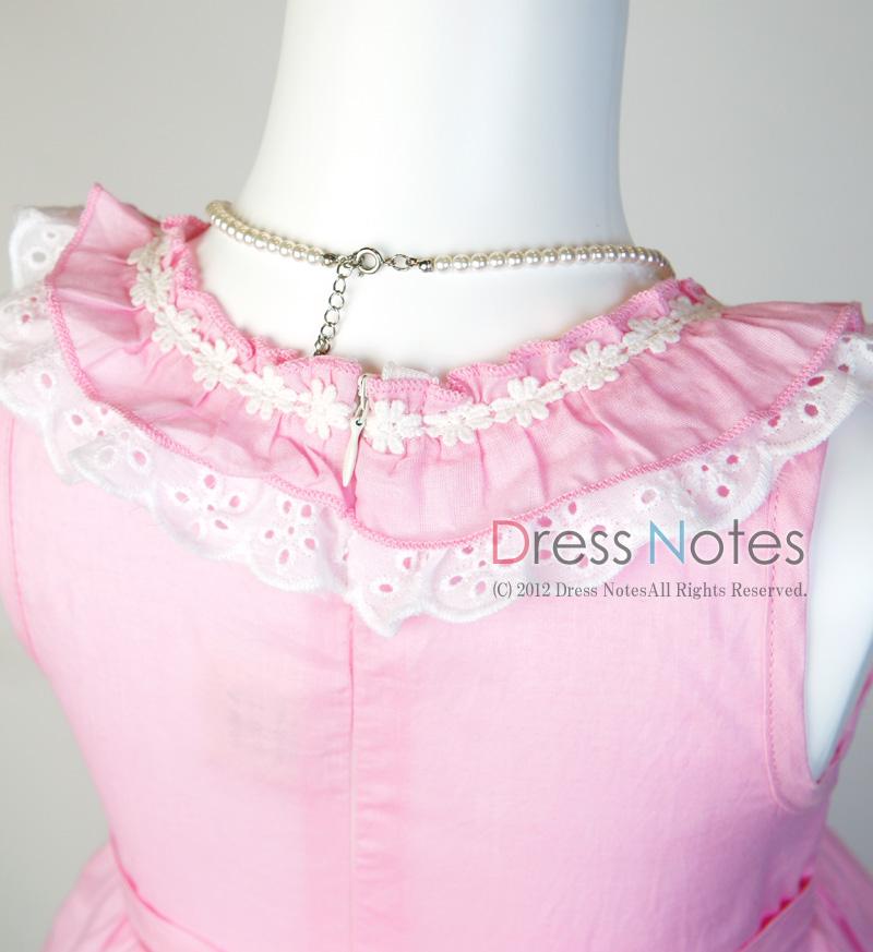 コットン子供ドレス「いちごみるくモア」 ピンク B1020-4