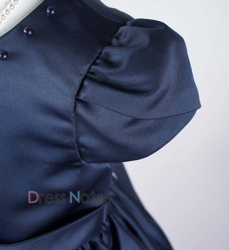 子供ドレス「マスカレード」ネイビー D8020-2