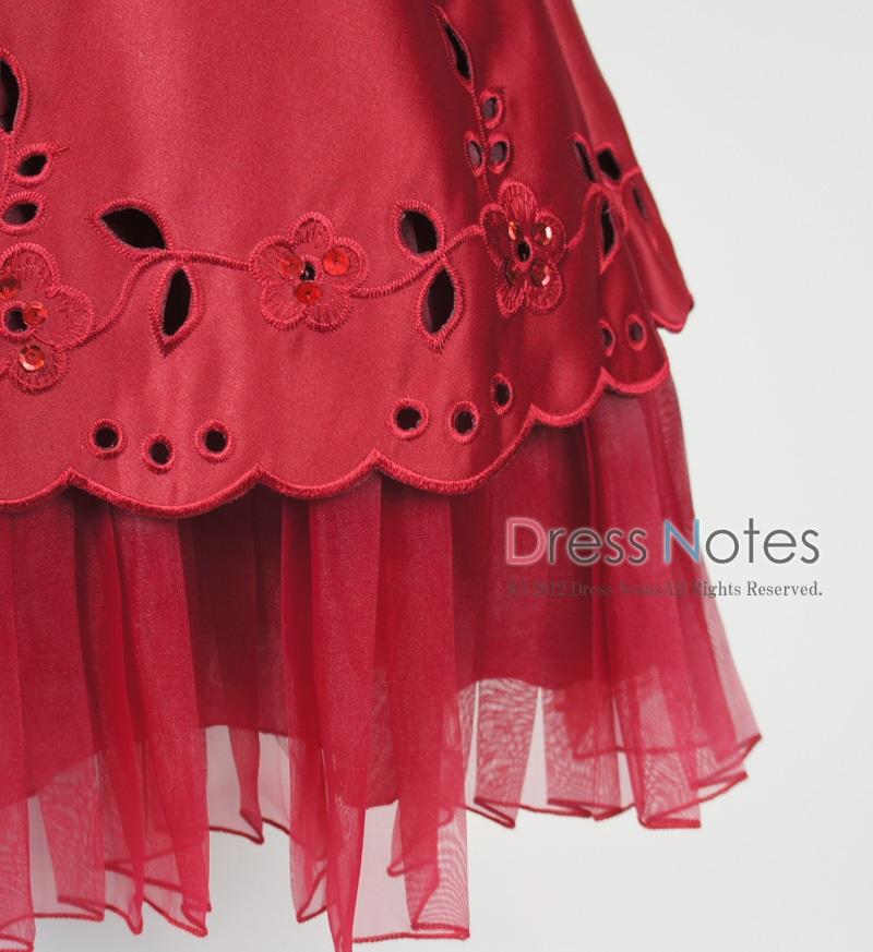 子供ドレス「マーズローズ」ワイン H8003-3