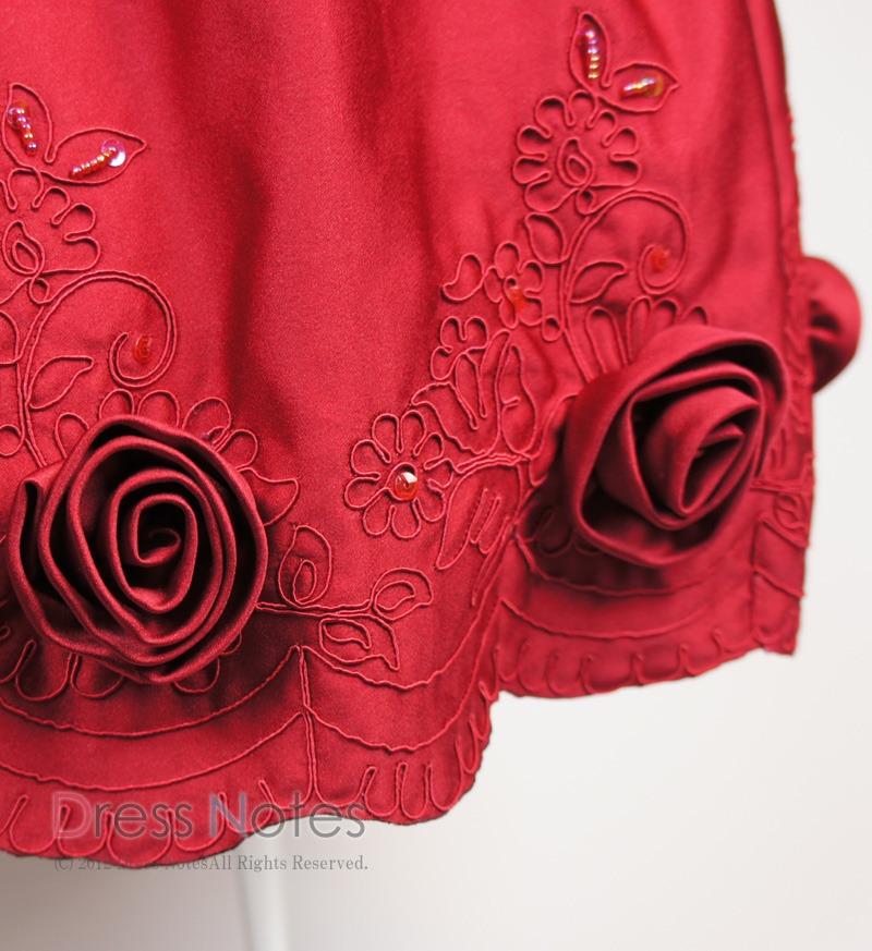 子供ドレス「コーラス」ワインレッド H8011-2