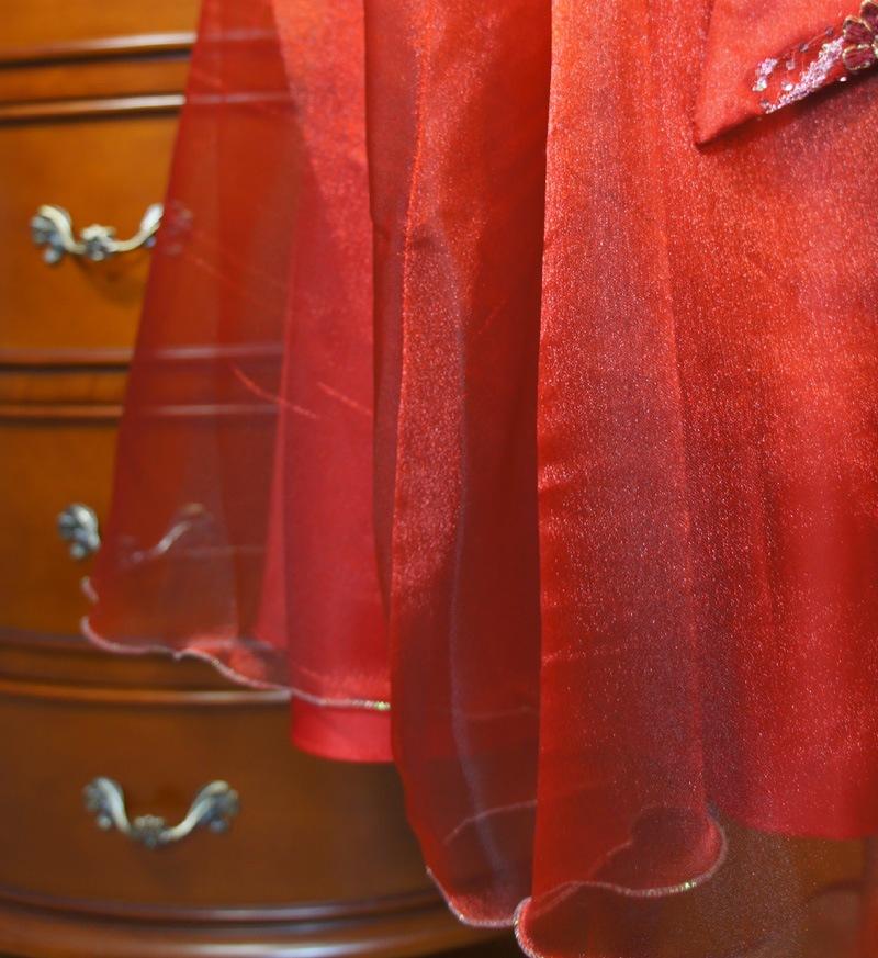 子供ドレス「ハバネラ」ワイン F8001-4