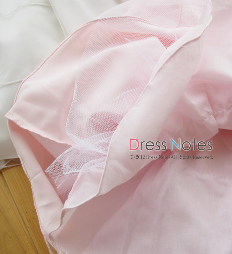 子供ドレス「メレンゲ」ピンク A8004-3