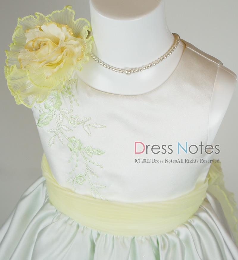 子供ドレス「ロンド」イエロー D8003-2