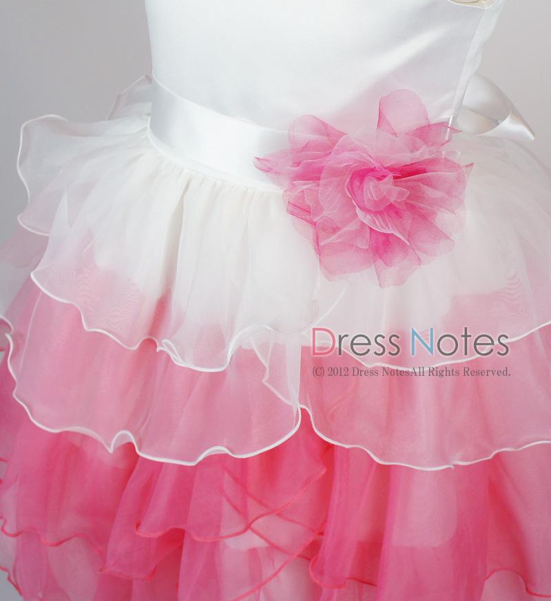子供ドレス「アリア」ピンク D8006-4
