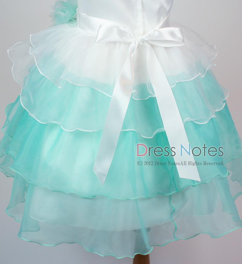 子供ドレス「アリア」ミントグリーン D8007-3