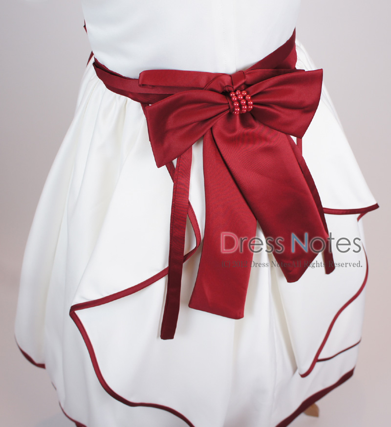 子供ドレス「ソナタ」ワイン D8024-3