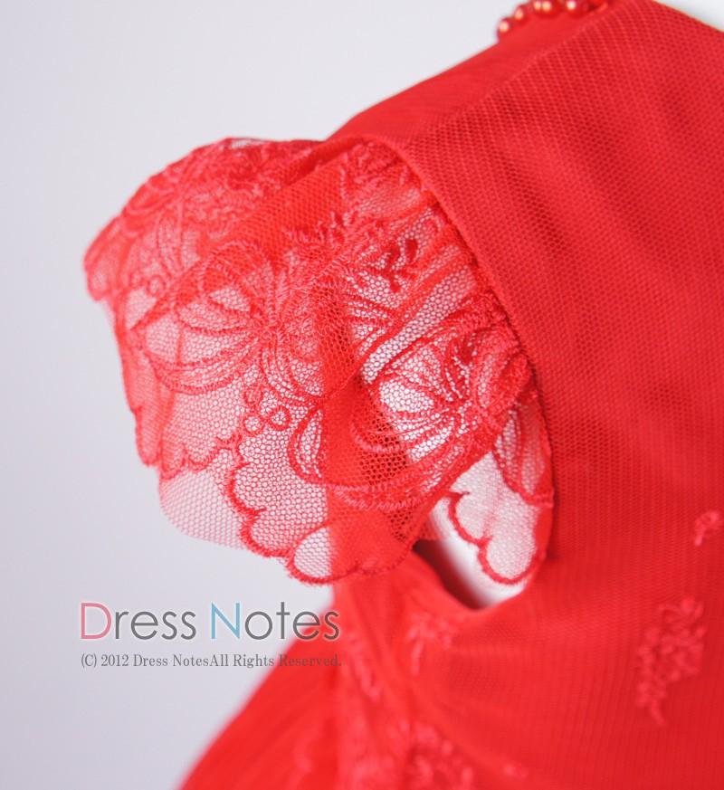 子供ドレス「パガテル」レッド D8022-3
