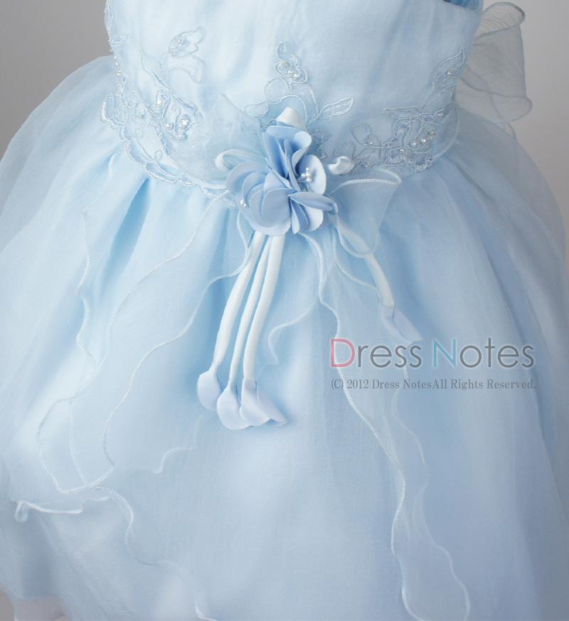 子供ドレス「スカルラッティ」ブルー G8001-2