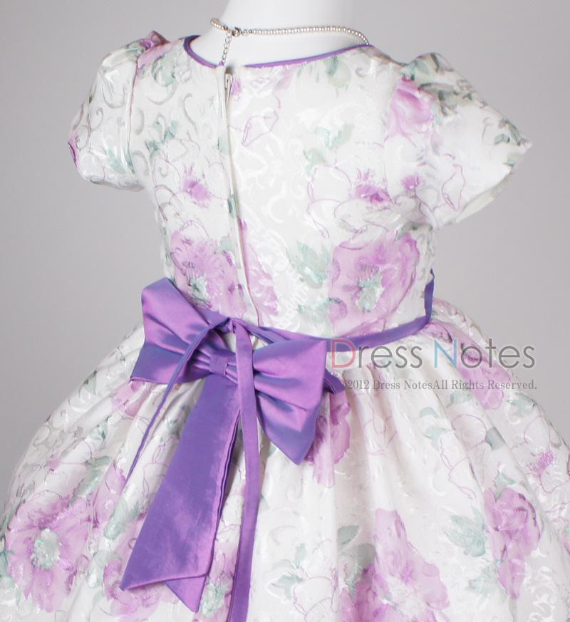 子供ドレス「ヘミング」パープル H8006-3
