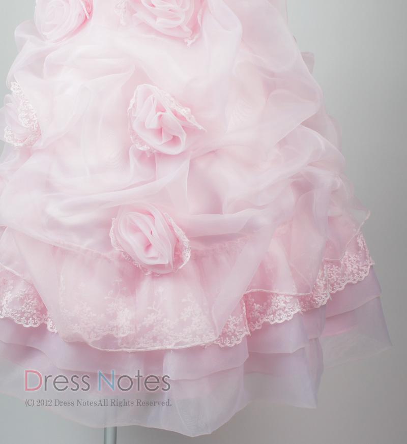 子供ドレス「プリマドンナ」ピンク H8008-3