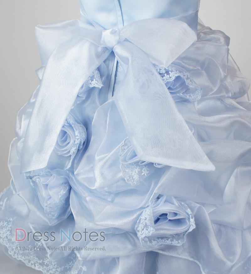 子供ドレス「プリマドンナ」ブルー H8009-3