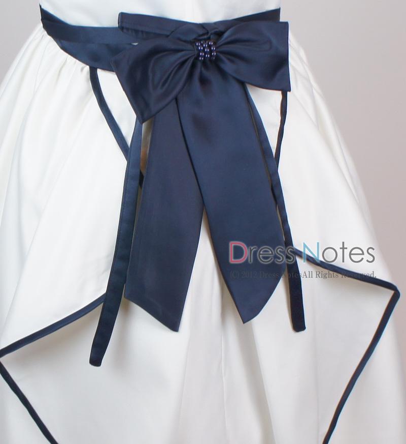 子供ドレス「ソナタ」ネイビーD8025 -3