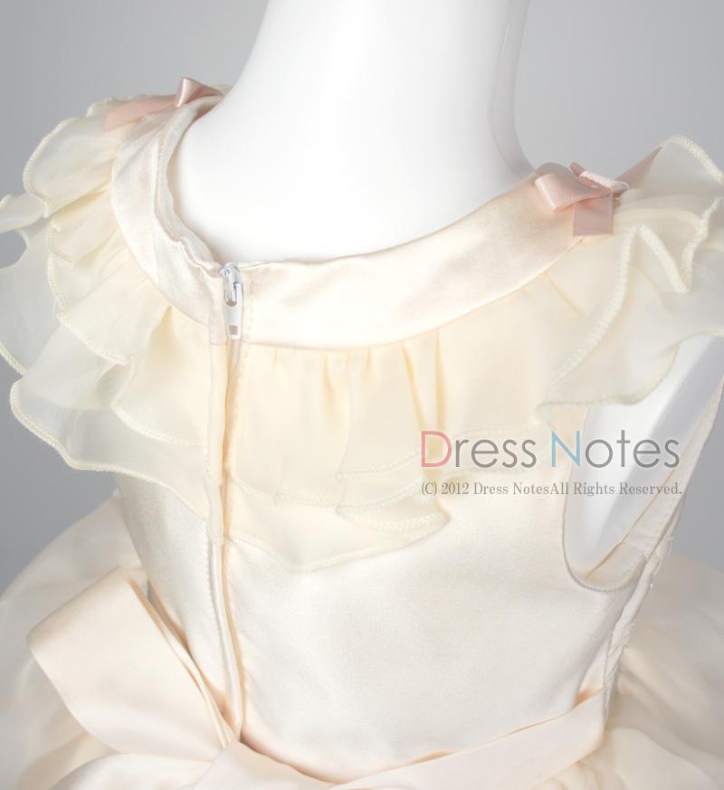 子供ドレス「アルコ・ロング」アイボリー G8013-3