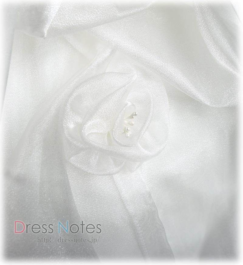 子供ドレス「ヴァニラパール」パールホワイト G8016-3
